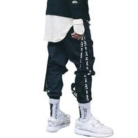 Men's Street Style Pants Streetwear casual Removable ribbon pants $58.06