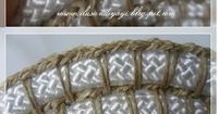 Crochet and Rope Basket - Tutorial � 4U // hf