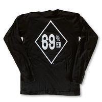"THIGHBRUSH® ""69% ER�""� DIAMOND COLLECTION"" - Men's Long Sleeve T-Shirt - Black"