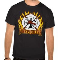 Firefighter Badge and Fire
