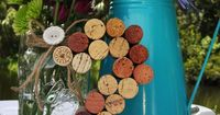 Such a cute way to do table numbers. Could be DIY.