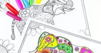 "It's time for another gorgeous, abstract and free printable pack �€"" this time with mandala elephant coloring pages for adults! There are 1001 reasons to love col"