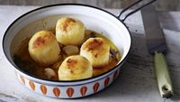 Sounds awfully posh, doesn't it? But these potatoes are really an easy and luxurious side dish to a roast or steak.