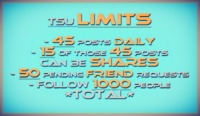 Tsu Posting Limits keep me creative, motivated and inspired