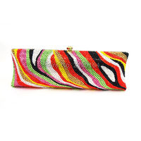 Women Multicolor Crystal Evening Bag Full Crystal