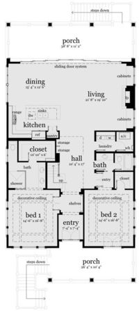 Designed for Water Views - 44091TD floor plan - Main Level