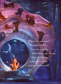 Ariel in her Grotto with dinglehopper - the-little-mermaid-on-broadway Photo