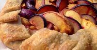 Cheese Curd In Paradise: Peach and Plum Galette