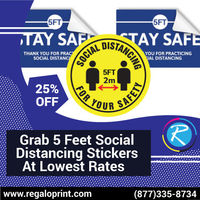 Grab 5 Feet Social Distancing Stickers at Lowest Rates