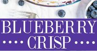 I love crumble topping anything and when paired with big juicy blueberries, I can't resist. Even better when it's a fast, easy, no-mixer, flexible recipe. In fa