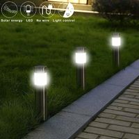 Stainless Steel Solar Outdoor Garden Path Lawn Light $16.62