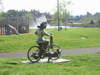 Some ScumBag stole the woman and one dog from her bicycle!!!... 1/17--1/18 2014... !!!.. City of Coeur d'Alene - Public Art - Riverstone Park