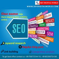 Everyone want to promote there business online but they know the right strategy how to promote a business online we offer for our customer 1 build a website which shows your work 2 want to promote your business then promote via SEO 3 increase traffic t...