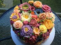 How could I ever let anyone eat such a beautiful cake?