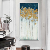 Gold painting Acrylic Painting on canvas art extra Large Flower painting Original Wall Pictures home Decor Hand Painted cuadros abstractos $129.00