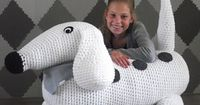 Wow! If I had the patience I would consider this #crochet project! My kids would love it.