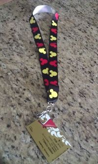 I saw that going differently in my mind...: DIY Disney lanyards