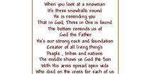Cute Snow Quotes | CraftSayings.com �€� View topic - Picture with Poem: Trinity Snowman ... ***Watch out for typos! :)