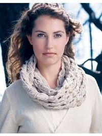 Ghost Cone Scarf | InterweaveStore.com This is an interesting technique where chain loops are worked like broomstick lace. I think I must try this!