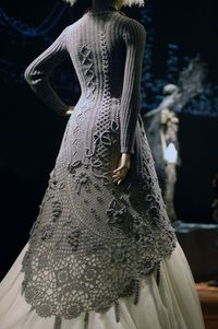 original poster:That is one of the most beautiful pieces of fiber art I've ever seen. I would wear it every day of my life if I had one. [Knitted/crocheted dress by Jean Paul Gaultier]