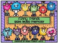 Funny Friends-Sight Word Memory. Kids love this fun way to practice sight words! $2