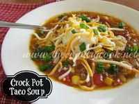 Crock Pot Taco Soup - this is one of those meals that I love to make and let everyone throw on some toppings. Amazing comfort food! | www.thecountrycook.net