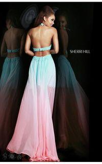 2014 Sherri Hill 11140 Ombre Prom Dresses