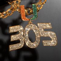 Miami Hurricanes 305 Turnover Chain - Limited Edition 18K Plated Gold Turnover Chain $79.99