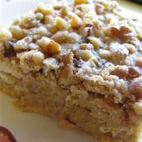 Great Pumpkin Dessert - substitute pecans, spice cake mix, 1 tsp. cinnamon for PP spice, increase to 1 cup butter, invert after cooling 20-25 mins. and serve with Cool Whip/ Cream Cheese Cool Whip. Store in Fridge. *optional- add toffee/ heath bar bits, 1...
