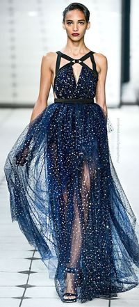 Jason Wu. Crazy for this starry, midnight blue fabric! But those harness straps�€�