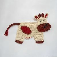 free crochet pattern for cow jumped over the moon applique - Google Search ༺�œ�ƬⱤ�ƒ��œ�༻