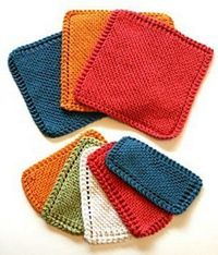 One of the best ways to learn how to knit is to begin with a knit dishcloth pattern. The Traditional Garter Stitch Dishcloth is a great way to learn the garter