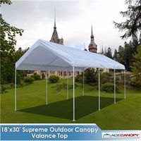 Supreme Canopy with Valance Top - 18x30 Super Sale