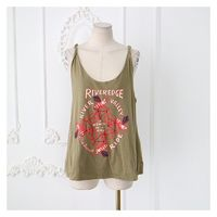 Oversized Sexy Printed Alphabet Summer Sleeveless Top Strappy Top Top - Discount Fashion in beenono