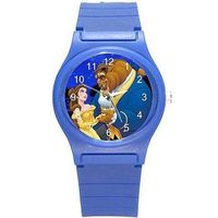 Beauty and the Beast on a Girls (Royal) Blue Plastic Watch & Band= Ships From Hong Kong $26.00