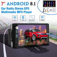 7 Inch 2Din for Android 8.1 Car Radio Stereo GPS Nav Quad Core 1+16GB Touch Screen GPS WIFI FM bluetooth