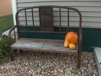 Made from an old Iron Bed and Bed Slats