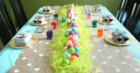 Easter Egg-Dying Party. Like the table lay out