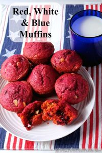Red, White & Blue Muffins