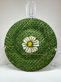 Hand Designed Floral Plate with Stand $22.00