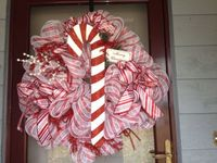 candy cane wreath, deco mesh wreaths and mesh wreaths.
