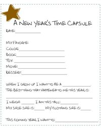 photograph about Time Capsule Printable named Content articles identical towards: cost-free 2011 printable period capsule study