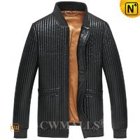 Custom Leather Jackets | Mens Black Quilted Leather Jacket CW890200 | CWMALLS.COM