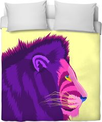 Purple And Yellow Glare Duvet Cover $120.00