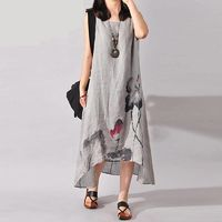 Vintage Ink Sleeveless Cotton Dress $37.99