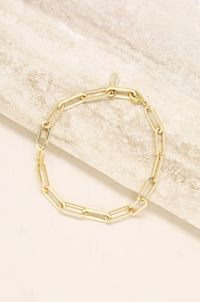Interlinked 18k Gold Plated Chain Anklet $42.00