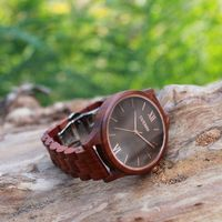 Christmas Deals | Dark Brown Wooden Watch | Quality Wood Watch | Swiss Movement | Engraving Options $69.00