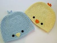 Free Crochet Patterns: Free Crochet Pattern - Baby Chick or Baby Bird Hat. �˜€CQ #crochet