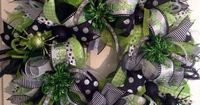 """""""All That Glitters"""" Deco Mesh Halloween Wreath on Etsy"""