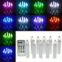 12 Colour Change Flicking Tea light candles-10pcs/set $29.99